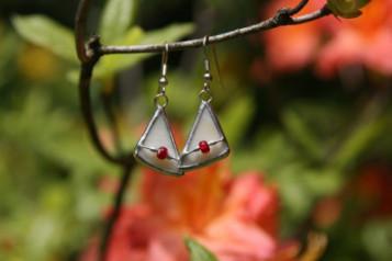 Náušnice trojúhelníkové - Tiffany šperky