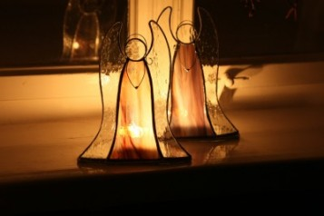 Svícen na čajovou svíčku - Tiffany šperky