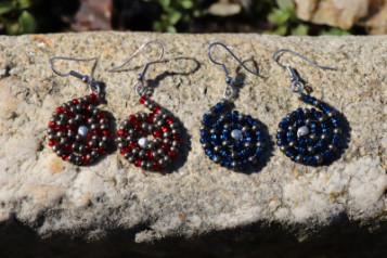 Náušnice z korálků - Tiffany šperky