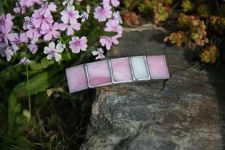 Spona malá růžová - Tiffany šperky