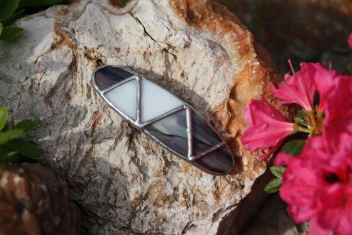 Spona malá kouřová - Tiffany šperky