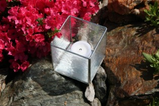 Svícen se zrcátkovým dnem - Tiffany šperky