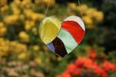 Srdce barevné - Tiffany šperky