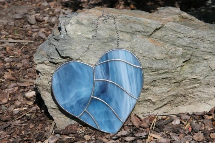 Srdce modré - Tiffany šperky