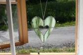 Srdce zelené menší - Tiffany šperky