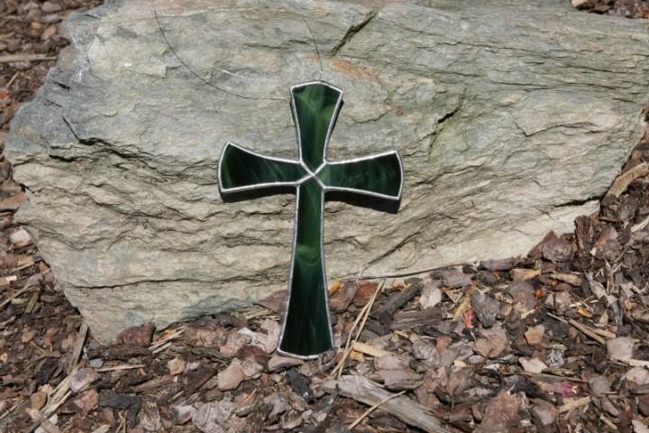 Kříž zelený - Tiffany šperky