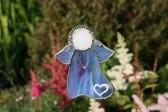 Anděl modrý srdíčkový - Tiffany šperky