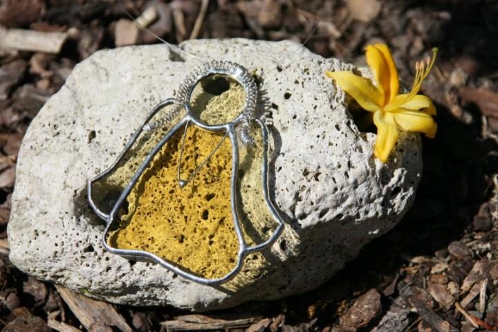 Andělka žlutá copatá - Tiffany šperky