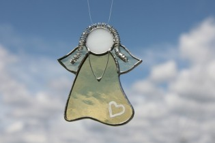 Andělka jemně žlutá - Tiffany šperky