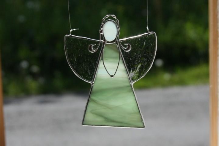 Andělka zelená copatá - Tiffany šperky
