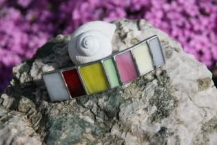 Spona barevná - Tiffany šperky
