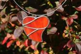 Srdce velké červené - Tiffany šperky