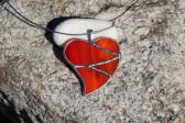 Srdce velké oranžové - Tiffany šperky