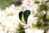 Srdíčko zeleno-žluté - Tiffany šperky