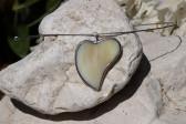 Srdíčko béžové - Tiffany šperky