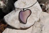 Srdíčko šeříkové - Tiffany šperky