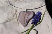 Srdíčko šeříkové zdobené - Tiffany šperky