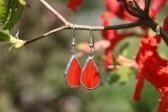 Náušnice červené buclaté - Tiffany šperky