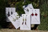 Náušnice šeříkové zdobené - Tiffany šperky