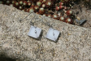 Náušnice paní Zimy zdobené - Tiffany šperky