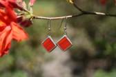 Náušnice červené - Tiffany šperky