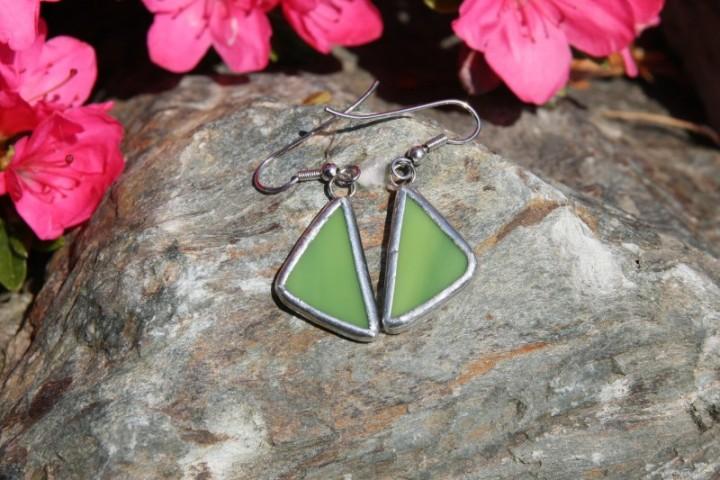 Náušnice zelené - Tiffany šperky