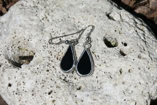 Náušnice černé malé - Tiffany šperky