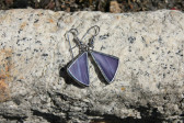 Náušnice fialové - Tiffany šperky