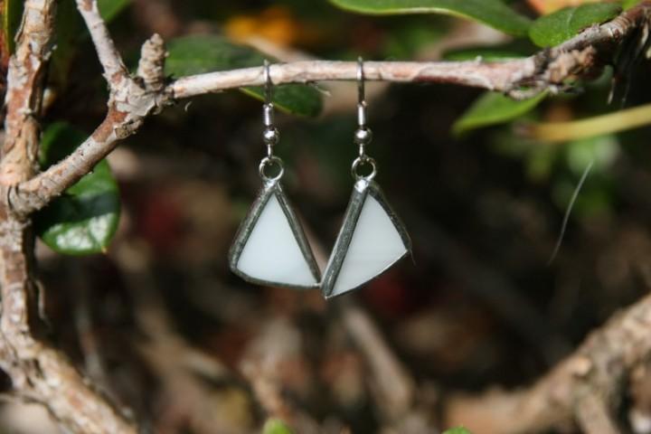 Náušnice sněhové - Tiffany šperky