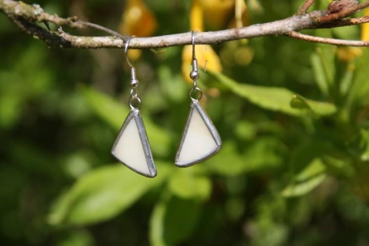 Náušnice béžové - Tiffany šperky