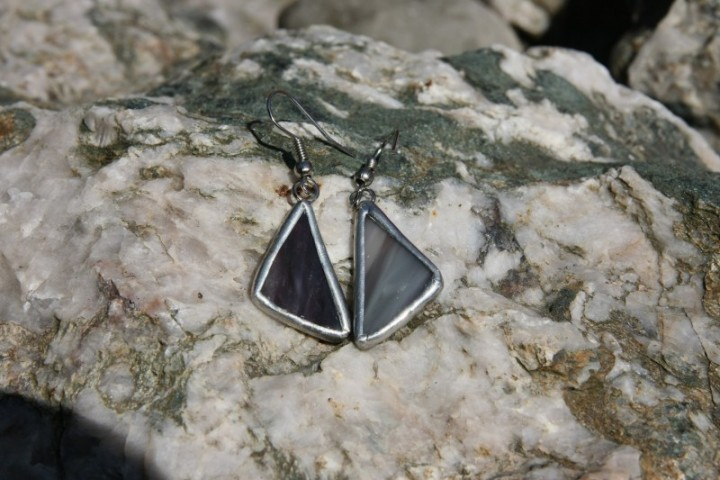 Náušnice kouřové - Tiffany šperky