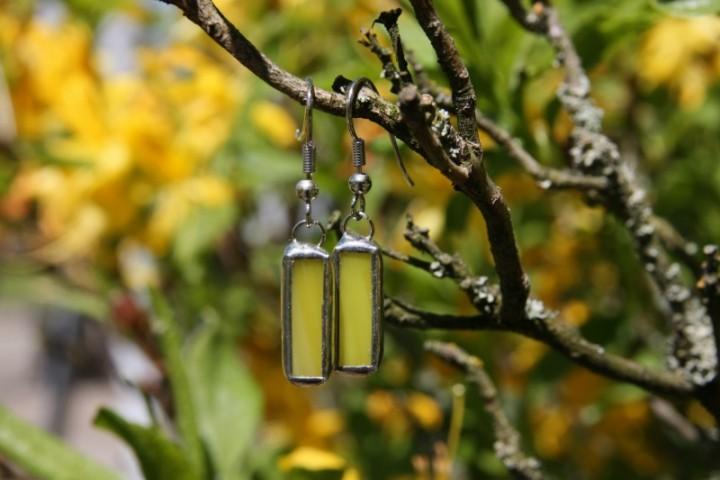 Náušnice sluníčkové malé - Tiffany šperky