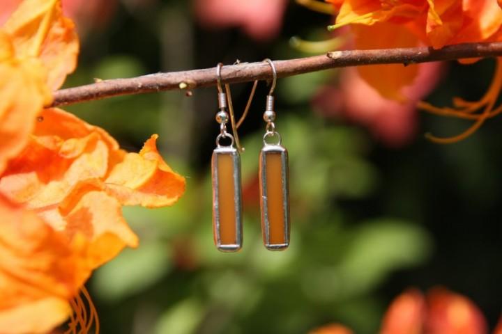 Náušnice medové střední - Tiffany šperky