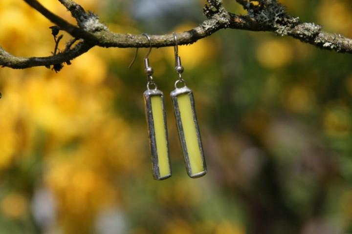 Náušnice sluníčkové dlouhé - Tiffany šperky