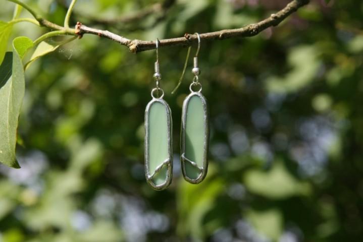 Náušnice zelené oválné - Tiffany šperky