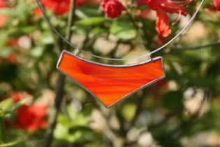 Náhrdelník velký červený - Tiffany šperky