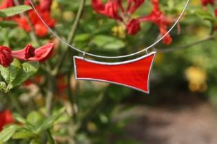 Náhrdelník červený - Tiffany šperky