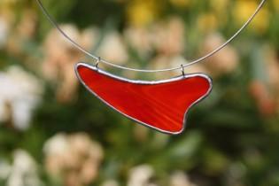 Náhrdelník červený oblý - Tiffany šperky
