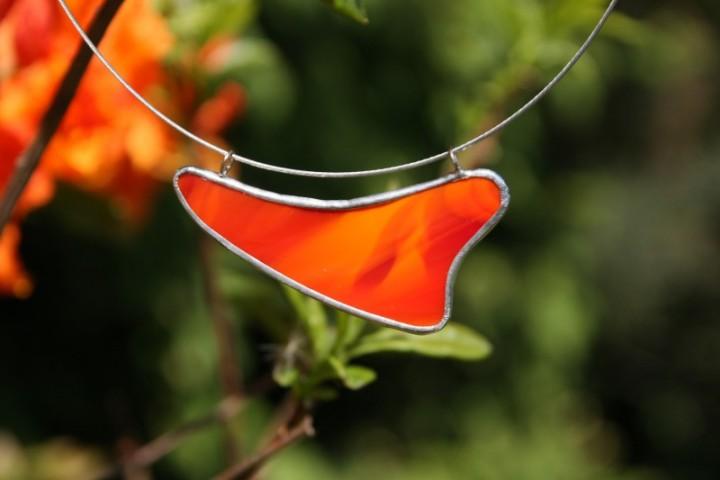 Náhrdelník ohnivý - Tiffany šperky