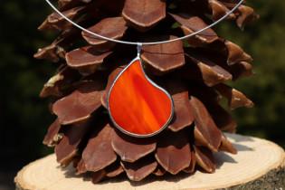 Šperk - kapka z ohně - Tiffany šperky