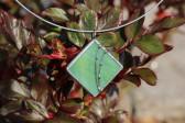 Šperk zelený zdobený - Tiffany šperky