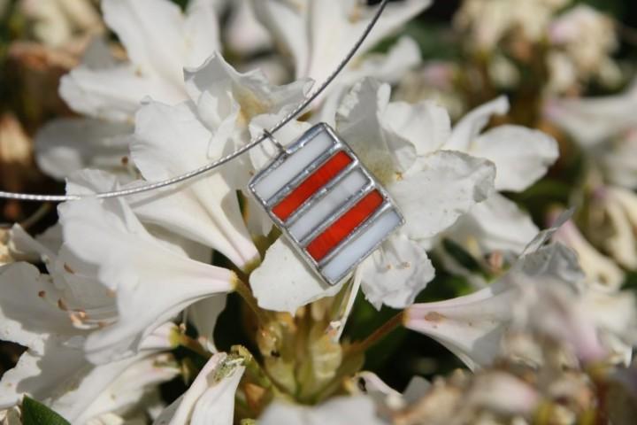 Červeno-bílý šperk - Tiffany šperky