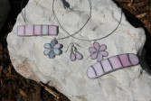 Spona růžová - Tiffany šperky
