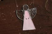 Anděl růžový malý - Tiffany šperky