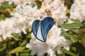 Srdíčko modro-bílé - Tiffany šperky