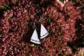 Náušnice růžové zdobené s patinou - Tiffany šperky