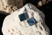 Náušnice barvy moře zdobené - Tiffany šperky