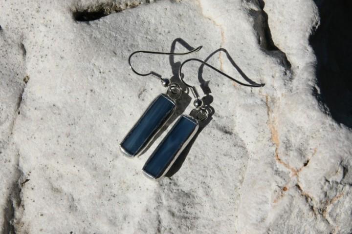 Náušnice z moře střední - Tiffany šperky