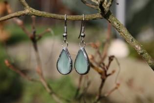 Náušnice vodnické malé - Tiffany šperky