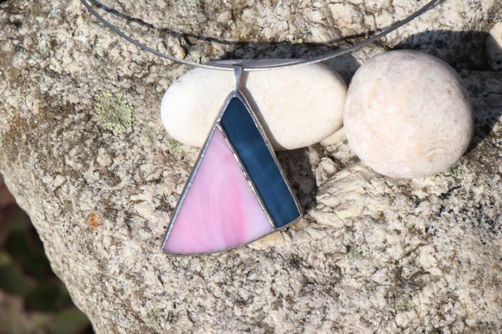 Modro - růžový šperk - Tiffany šperky